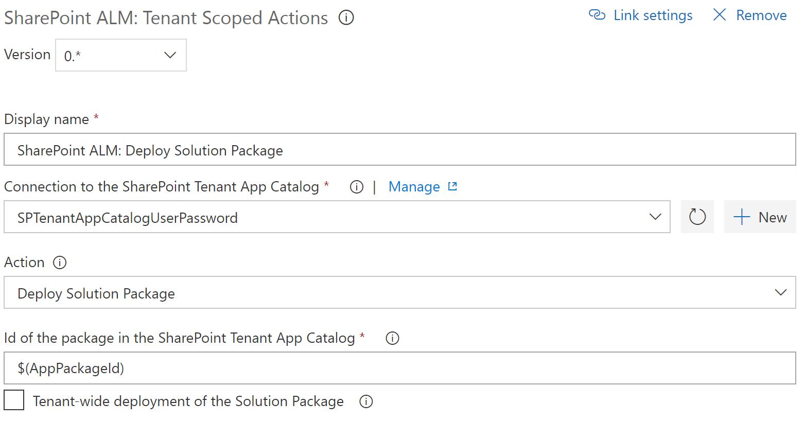 Catalog Scoped Action: Deploy