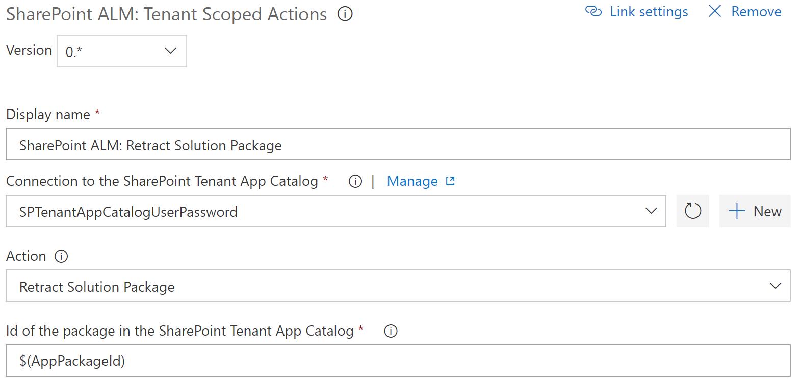 Catalog Scoped Action: Retract
