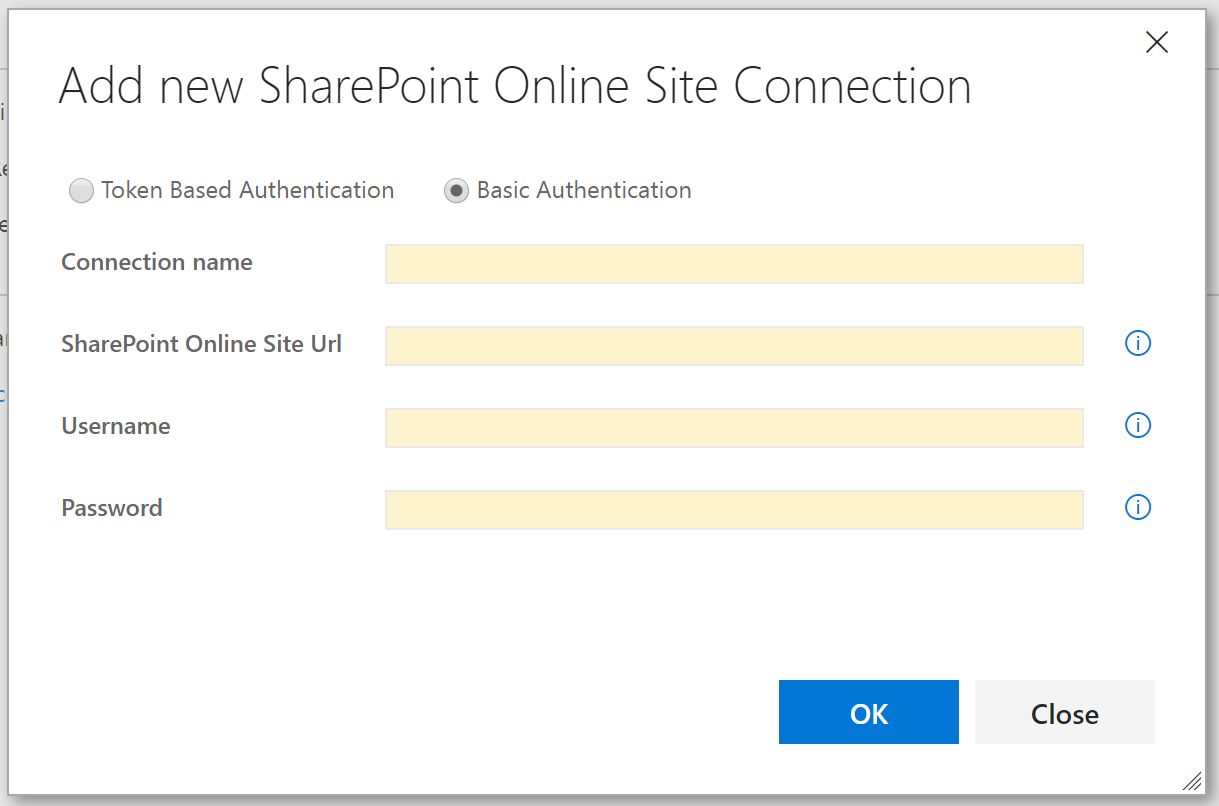 SharePoint username/password authentication